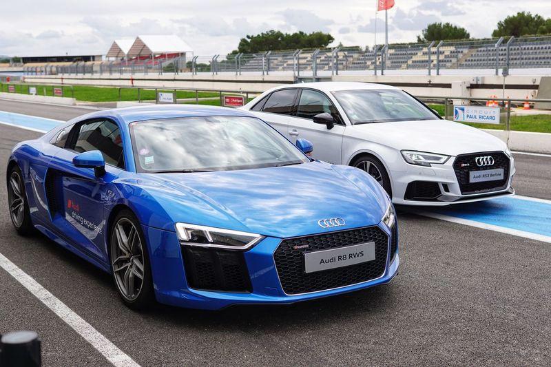 Audi driving