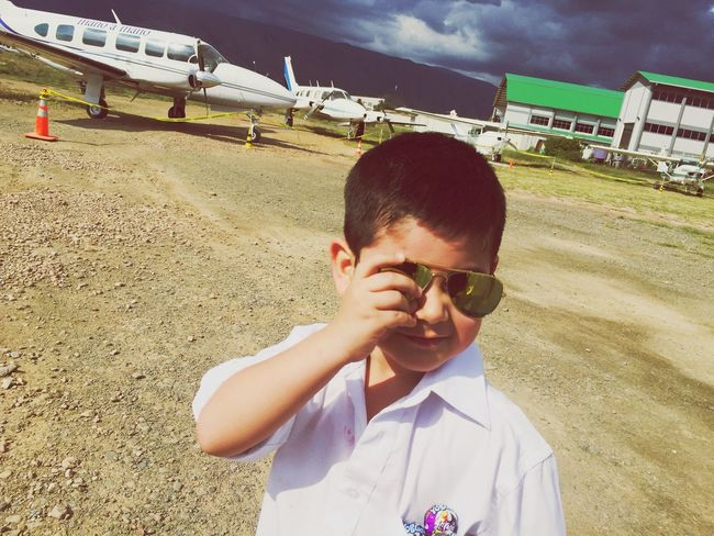 Little Pilot 😊✈️ (My little cousin) IPhoneography Enjoying Life Fashion Young Sky Paris