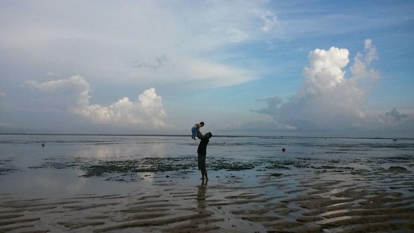 😘 Sanur Bali Indonesia INDONESIA Water Sportsman Full Length Standing Sea Beach Athlete Sport Ankle Deep In Water Sky