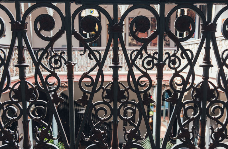 Metal Fence Wrought Iron Boundary No People Pattern Barrier Full Frame Railing Gate Safety Security Close-up Architecture Design Day Backgrounds Iron Indoors  Iron - Metal Ornate Arabic Indoors