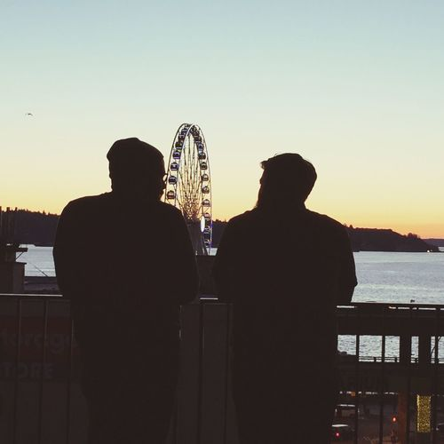 Showcase: February Hanging Out Bromance Friends Puget Sound Men Seattle Waterfront Discussions