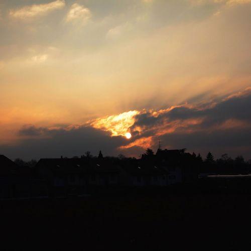 Sky Sunset Spring Fire