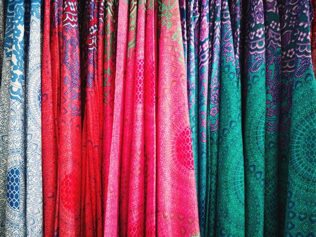 HuaweiP9 P9 Huawei PhonePhotography Clothing Pants Multi Colored Backgrounds Full Frame Textile Textured  Variation Fabric Close-up Market Stall Market Cloth Repetition Clothes Clothesline