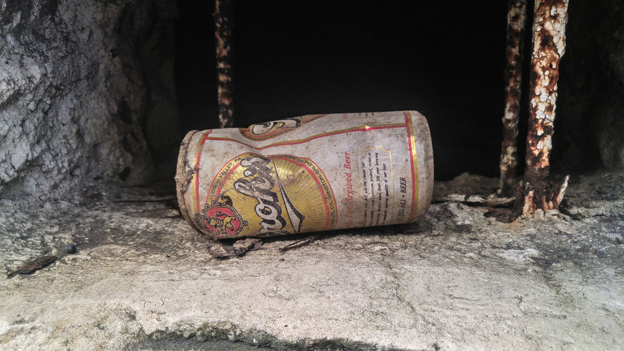 Beer Can Old Hidden Rusted Metal Tin Can Aluminum Can
