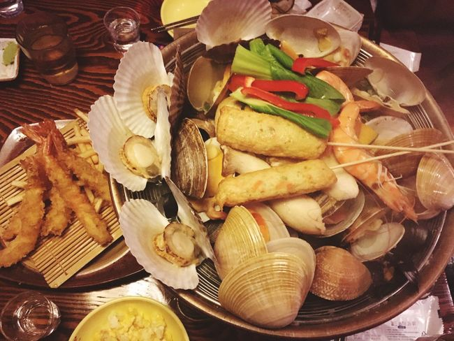 Seafoods SEAFOOD🐡 Yummy Delicious Food Enjoying Life Clams Drinking Afterwork With Friends