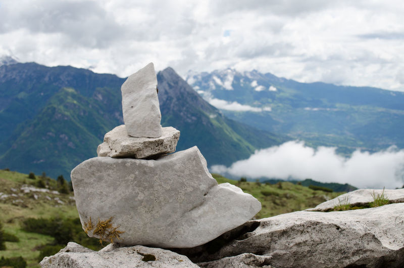Philosophy Romantic Alpi Beauty In Nature Close-up Cloud - Sky Day Fog Landscape Mountain Mountain Range Nature No People Outdoors Philosophy Stone Rock - Object Scenery Scenics Sky Stone Track Tranquility Way