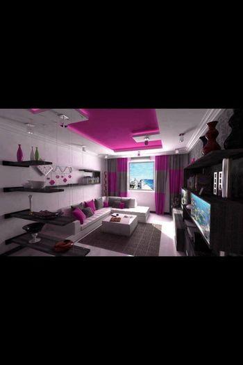 the living room beautiful