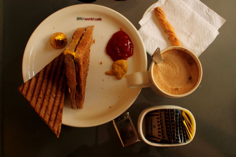 Morning Rituals Chicken Sandwish Coffee ☕