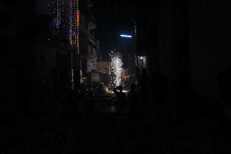 Street View - Fireworks Night Illuminated Nightlife Indoors  No People Popular Music Concert Outdoors Canonindia Exploding India Firework - Man Made Object Canonphotography Canon1300d Canon_photos Diwalicelebrations Fireworks Crackers🔥💥 Canon Firework Display Black Background