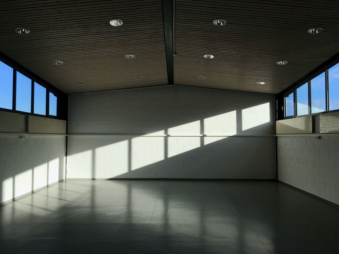 Interior of illuminated building
