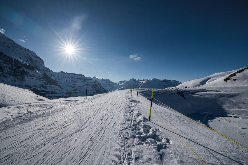 Skiing Adventure Cold Temperature Day Kleine Scheidegg Landscape Leisure Activity Mountain Outdoors Ski Run Sky Snow Sun Sunlight Winter