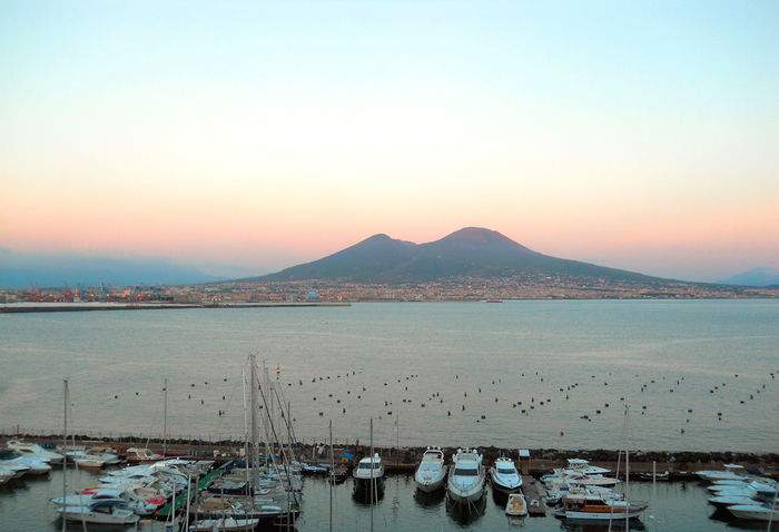 Amazing Amazing View Boat City Dusk Harbor Landscape Mountain Naples Nature Scenics Sea Sunset Tourism Tranquil Scene Tranquility Travel Vacations Vesuvio View View From Above Views Volcano Water Yacht