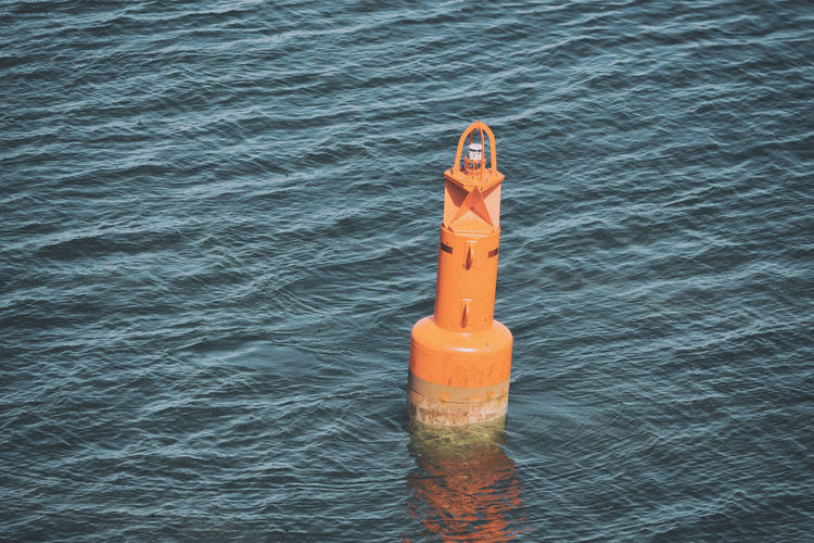 Boje in der Ostsee Water Sea No People Day Safety Floating Floating On Water Nature Rippled Orange Color Security Protection Outdoors Sunlight High Angle View Waterfront Buoy Reflection Inflatable  Boje Ostsee Baltic Sea