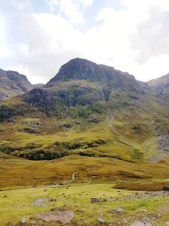 Mountain Cloud - Sky Mountain Range Landscape No People Outdoors Sky Day Nature Beauty In Nature Nature Colors Autumn🍁🍁🍁 The Week On EyeEm EyeEmNewHere Scotland Scenics Travel Destinations Tranquility Highlands Of Scotland Scozia Glencoe Scotland The Three Sisters