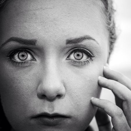 Portrait Model Girl Black And White by Photomind.se!