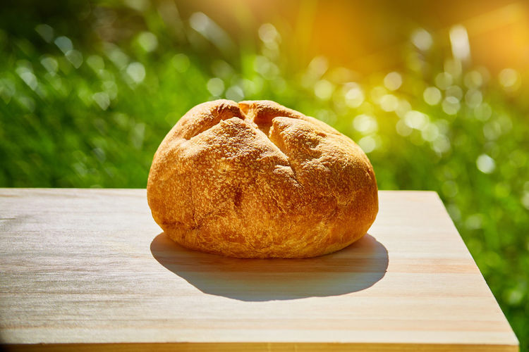 Close-up of bread on table