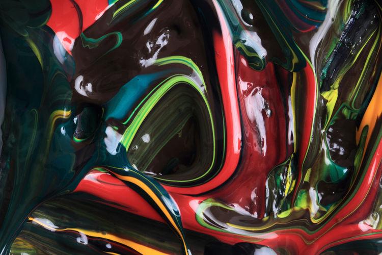Full frame shot of multi colored paint