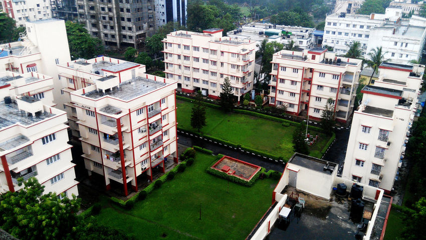 Architecture Building Building Exterior Built Structure Day Green Color High Angle View No People Outdoors Residential Building Residential Structure #urbanana: The Urban Playground