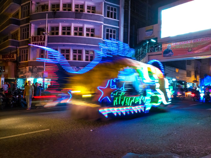 Bandung LightFest 2017 Architecture Arts Culture And Entertainment Blurred Motion Celebration City Night Nightlife People Real People Street Phone Photography Taken With Infinix Zero 4 Phone Camera Phonecamera Phoneography Street Photography Long Exposure EyeEmNewHere Building Exterior PhonePhotography Smartphone Photography Night Shot City Street Lightning