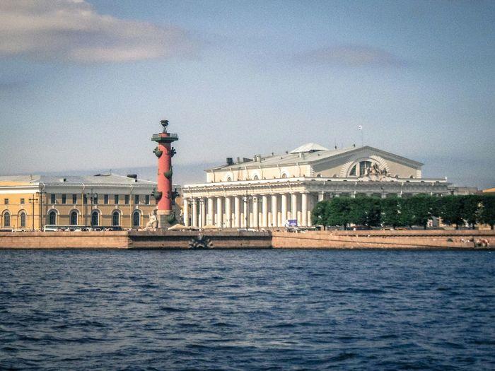 River Buildinds Palace City View  Leningrad Sain Petersburg Russia