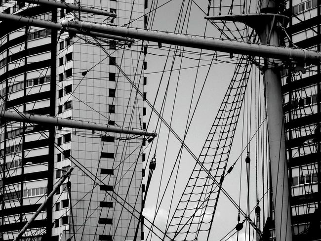 Bremerhaven, Havenwelten, SailCity Architecture Photography The Architect - 2016 EyeEm Awards Facades Facade Detail Lines And Shapes Lines And Patterns Lines, Colors & Textures Urban Geometry Urban Landscape Urban Photography Urban Exploration Graphics Graphic In Urban Landscapes Check This Out! Sail Away Sailing Boat Harbour Life Harbourside Harbour View BremerhavenFine Art Photography On The Way Monochrome Photography Urban_geometrics The Graphic City