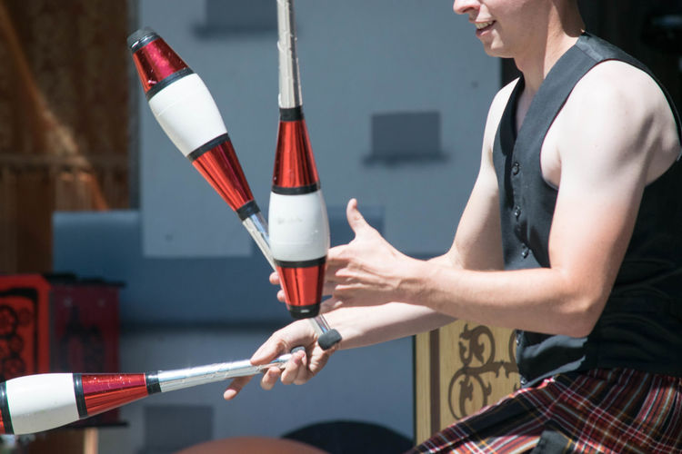 Event Fun Renaissance Renaissance Festival Costume Juggling Juggling Pins Kilt Preformance