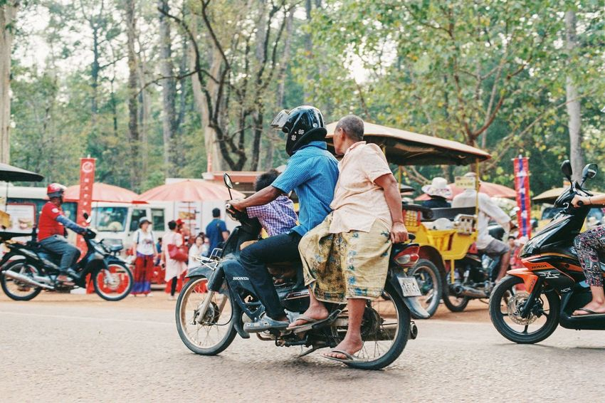 Ankor wat Film Photography Ae-1 Canon Togetherness Two People Transportation People Day