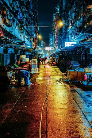 Discoverhongkong Reframinghk Nightphotography Nightshooters City Illuminated Transportation Street Night Mode Of Transportation Architecture Building Exterior Motor Vehicle Car Road City Street The Way Forward City Life Direction No People Land Vehicle Built Structure Wet Outdoors