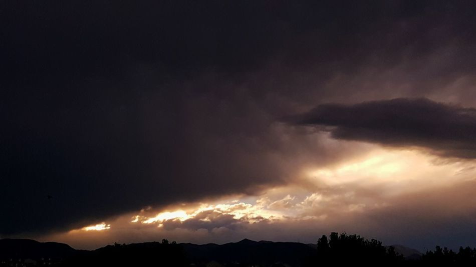 Stormy sunset, with a hint of blue.. Tranquil Scene Scenics Dark Sky Cloud - Sky Storm Cloud Cloudscape Mountain Range Sunset And Clouds  Sunset_collection Sunsetsniper Greatshotz Greatview Epic Shot Photography Sunset View. Vibrant Color Rocky Mountains Follow4follow Followplease Followme Fountain,Co No People Beauty In Nature Photos Around You The Week On EyeEm