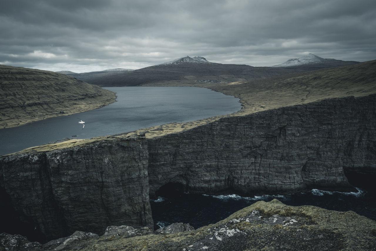 Beauty In Nature,  Cliff,  Cloud - Sky,  Day,  Faroe Islands
