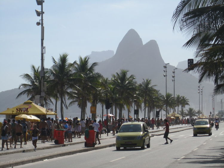City City Life City Street Day Group Of People Growth Ipanema Leisure Activity Lifestyles Medium Group Of People Mixed Age Range Mountain Outdoors Palm Tree Road Sky Tourist Travel Destinations Tree