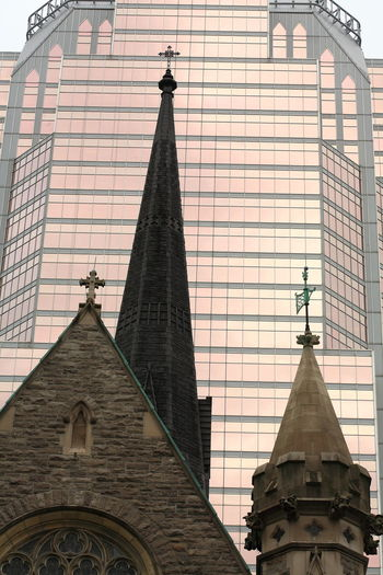 Architecture Building Exterior Built Structure Canal Church Montreal Church Towers Churches Montreal Canada Office Building Exterior Place Of Worship Quebec, Canada Religion Silhouettes Skyline Skyline Montreal Skyscraper Spirituality Spirituality Beliefs Travel Destinations