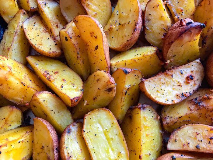 Full frame shot of baked potato