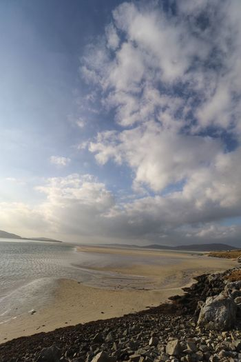 Peace And Quiet Peace Travel Best Beach In The World Scotland Luskentyre Beach Sea Sky Beach Beauty In Nature Nature Scenics Tranquility Water Tranquil Scene Sand Cloud - Sky Horizon Over Water No People Day Outdoors
