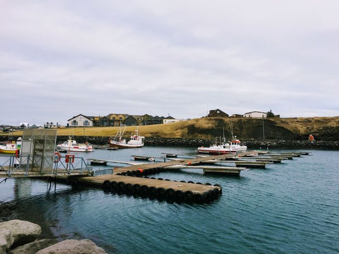 Architecture Beauty In Nature Boat Building Exterior Built Structure Day Harbor Iceland Mode Of Transport Moored Nature Nautical Vessel No People Outdoors Rippled River Sailboat Scenics Sky Tranquility Transportation Tree Water Waterfront Yacht