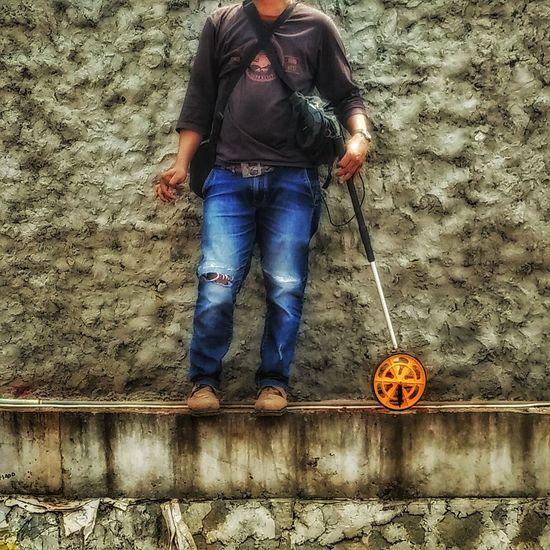 Human Meets Technology Surveyor Measuring Wheels Measuring Tool
