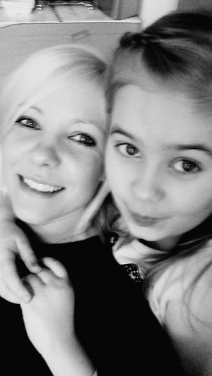 Me And My Little Girl:) Black And White Smiling I ♡ My Girl Me And My Daughter Happy Happiness ♡ Love Taking Photos Mommy And Daughter