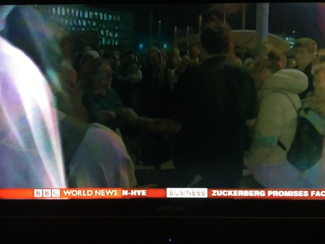 Large Group Of People New Zealand Earthquake Outdoor Evil Between Them Crowd Night