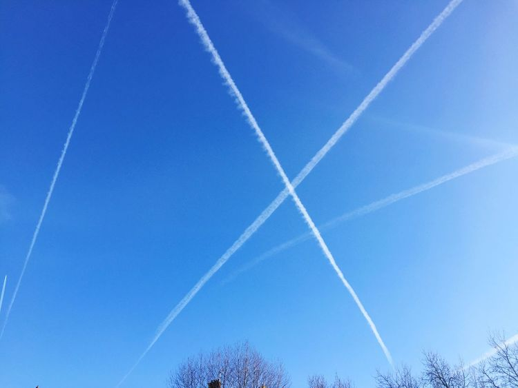 Blue Sky Clear Sky Whereareyougoingpeople Airplane Vapor Trail Contrail