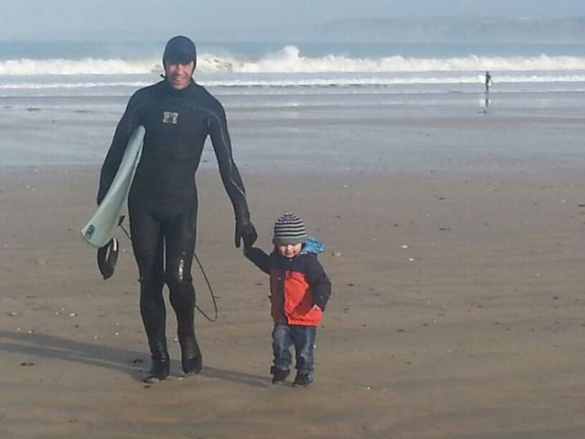 Surfing Baxter