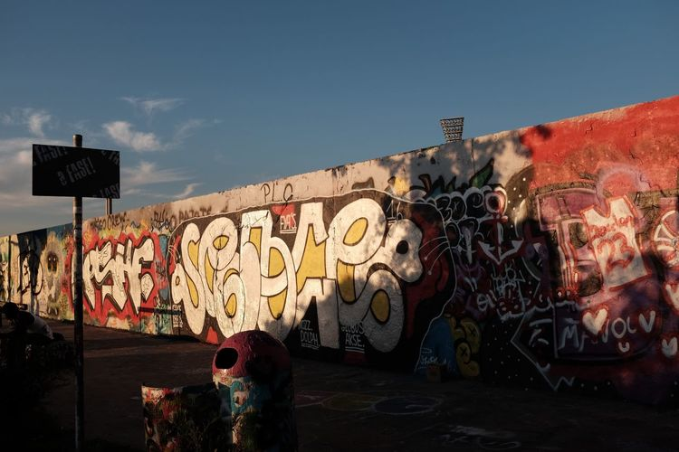 Berlin Berlin Photography Day Graffiti Mauerpark Multi Colored One Person Outdoors Real People Shadow Stade Stadion Street Street Photography Streetphotography Strrewt Sunlight Sunrise Sunset Urban Urban Exploration Urban Geometry Urban Landscape Urbanphotography Wall