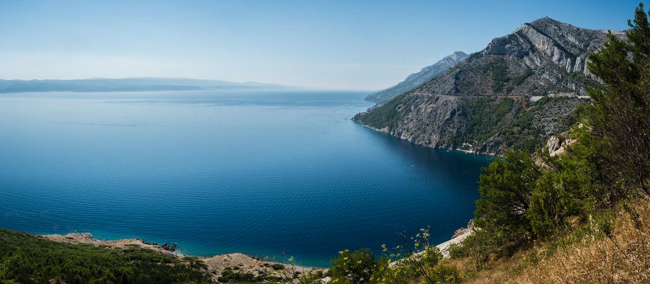 Adriatic Sea Beauty In Nature Blue Cliff Coast Coastline Croatia Croatian Coast Day Highway Islands Mountain Nature No People Outdoors Road Scenics Sea Water