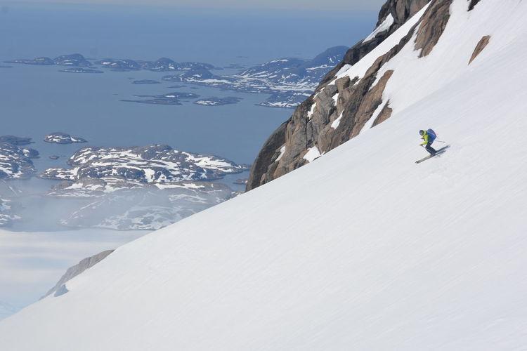 Man Skiing On Mountains