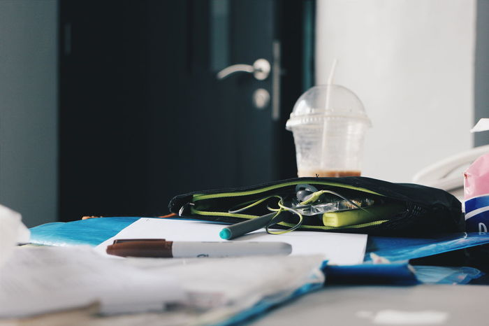 Desk Takeaway Cup Takeaway Coffee Showcase: February Working Desk Messy Messy Desk Paper Marker Markers