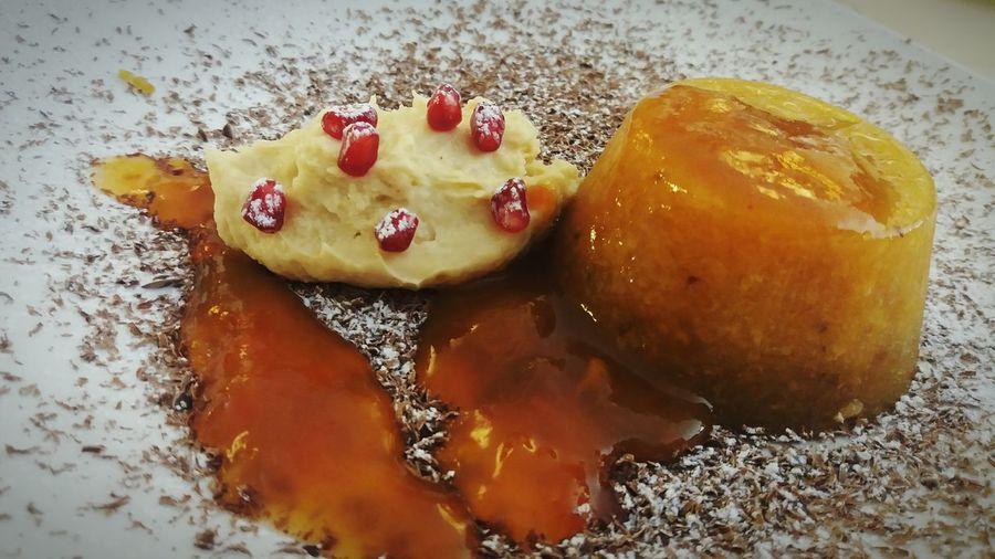 Holiday Desserts Winter Desserts Kaki Desserts Kaki Pudding kaki Pomegranate