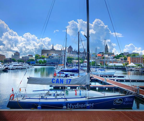 Sky Nautical Vessel Transportation Mode Of Transportation Water Architecture Building Exterior Cloud - Sky Waterfront Sailboat Travel Blue Outdoors Built Structure