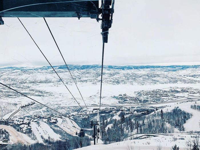 the jordanelle express gondola 🚠 Wasatch Back Wasatch County Utah Deer Valley Resorts Water Sea Winter Cold Temperature Day Nature Sky