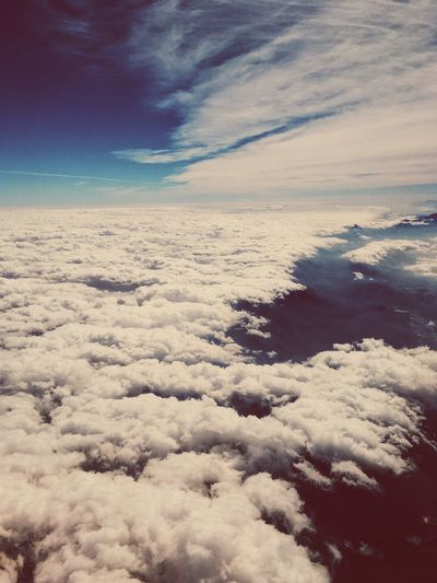 View from airplane, South Africa. Aerial View Backgrounds Beauty In Nature Blue Cloud - Sky Cloudscape Day Heaven Nature No People Outdoors Scenics Sky Sky Only Softness The Natural World Tranquil Scene Tranquility Weather White Color