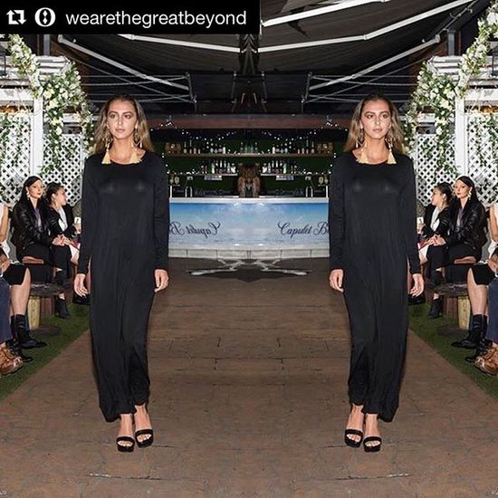 Reposting from @wearethegreatbeyond . ・・・ Our Europa Longdress at @joelrichy @joelrichycosmetics launch @capuletbar ❤️ Photography by @jkdimagery 📷 Shop via link in bio 🔝🍃🌏🍃