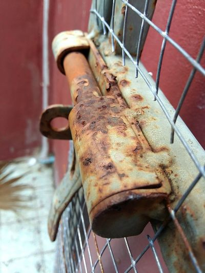 Rust. Close-up Rusty No People Rust Iron Steel Fall Down